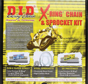 DID 525VX Chain and Sprocket Kit Honda Hornet 600 07-13